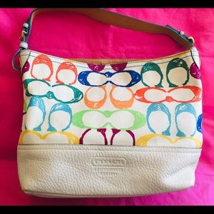 Coach multicolor hobo bag